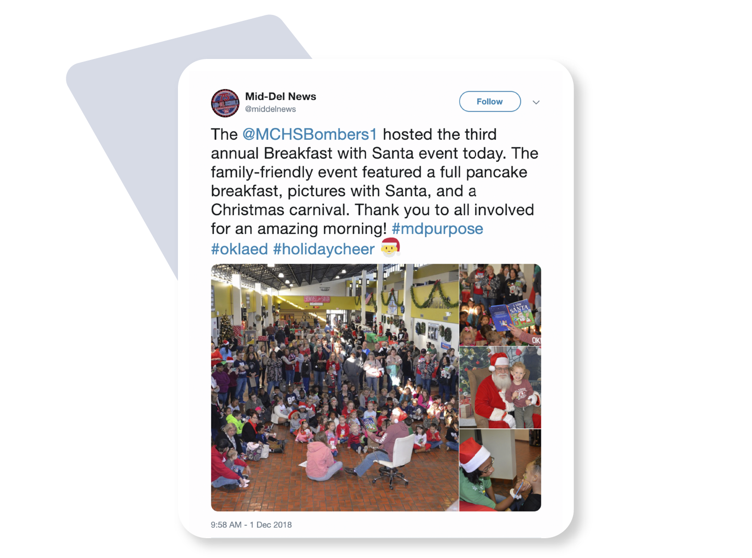 image showing tweet from Mid-Del news using the MD purpose hastag