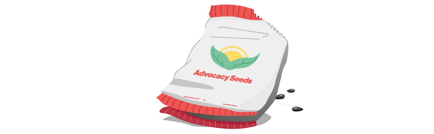 Image: Bag of advocacy seeds