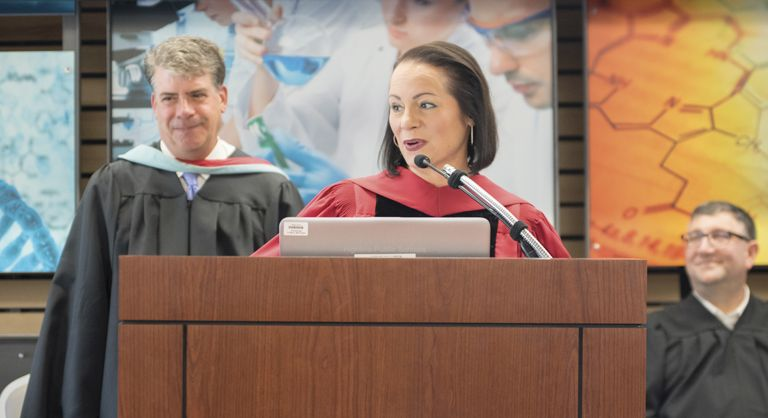 Susan Enfield Speaking at Graduation