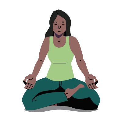 A woman in the lotus yoga position